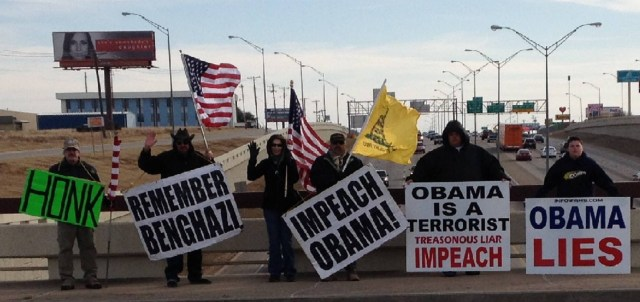 Impeach Obama Overpass Protest, Feb. 1st, 2014!