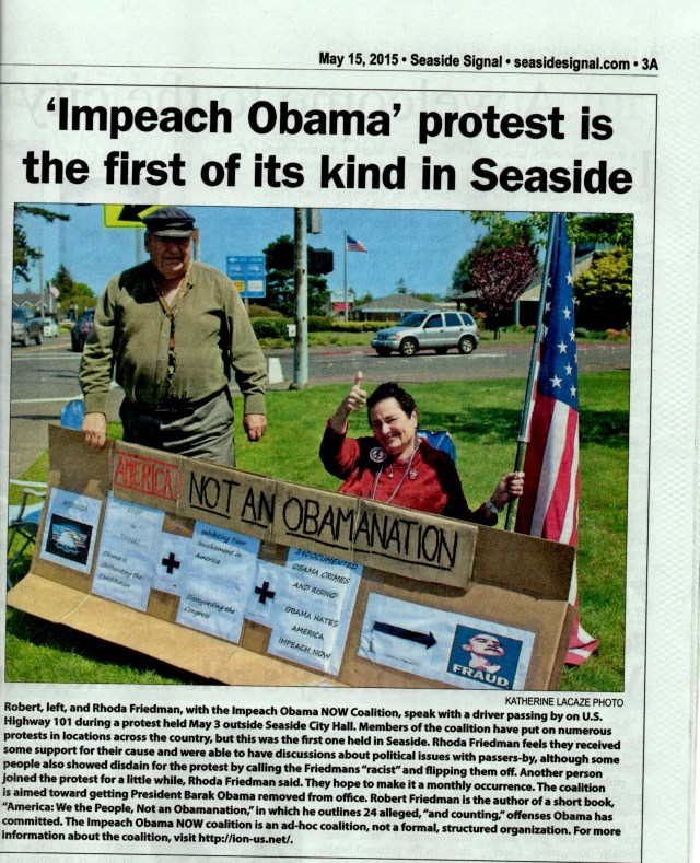 Seaside Signal Newspaper Article (Click to expand text.)