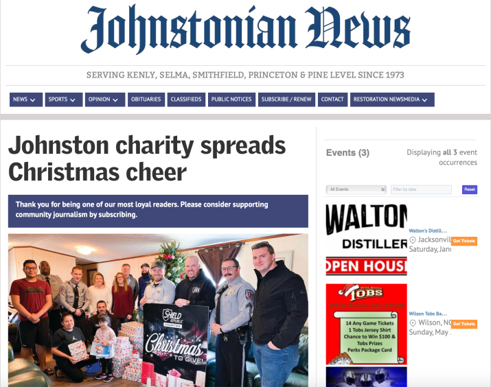 2019 christmas to give johnstonian news shield republic