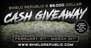 shield republic $5,000 cash giveaway freedom club