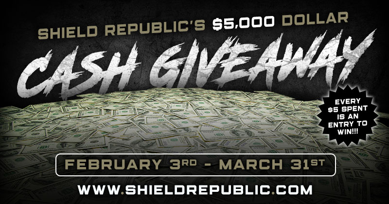 shield republic $5,000 cash giveaway freedom club