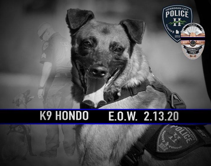 Herriman City Police Fallen Hero K9 Hondo Fundraiser