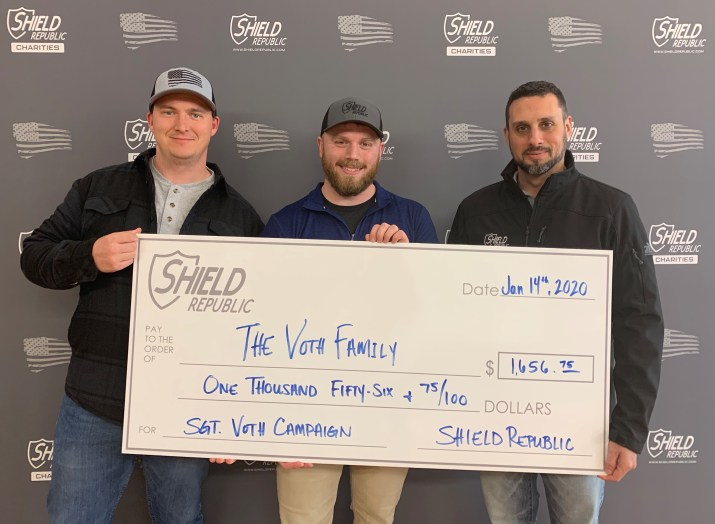 Sgt. Voth Fallen Officer Donation Check
