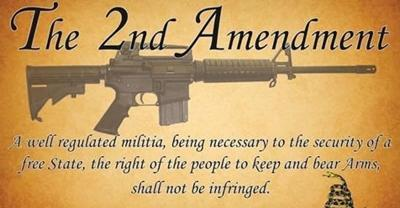 The second amendment accented with an M16