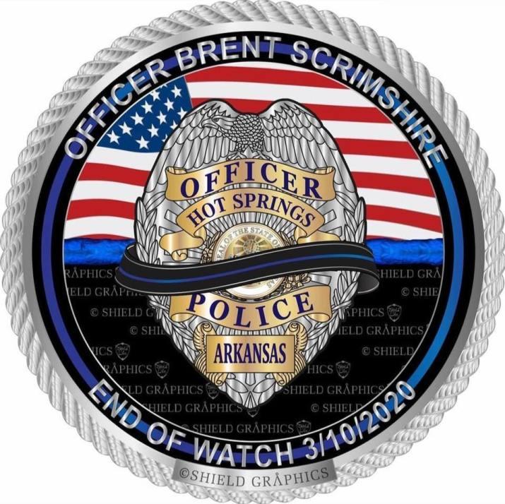 Fallen Officer Scrimshire Hold The Line Fundraiser Shield Republic Charities