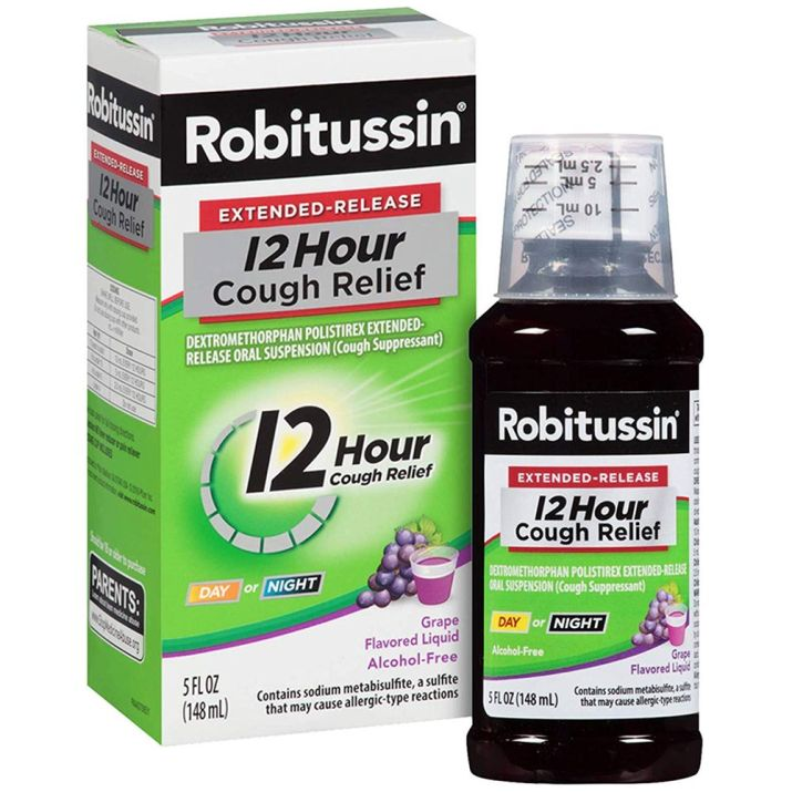 A picture of Robitussin cough medicine