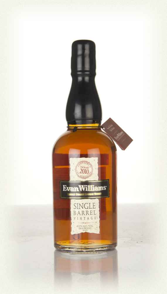 A bottle of Evan Williams Single Barrel Whiskey