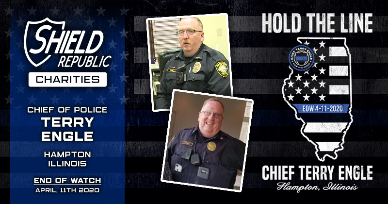 Shield Republic's 'Hold the Line' campaign honors Police Chief Terry Engle of Hampton