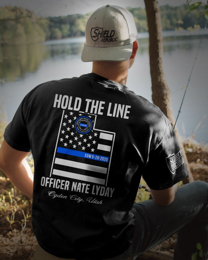 Police Officer Nate Lyday Shield Republic Shirt Fundraiser Donation