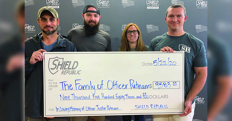 Shield Republic donation to fallen officer Justin Putnam donation