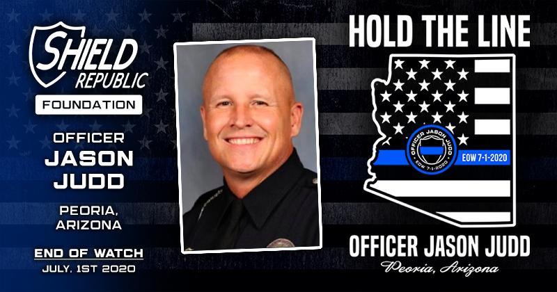 Officer Jason Judd Peoria Police Department Shield Republic Foundation Donation Fundraiser