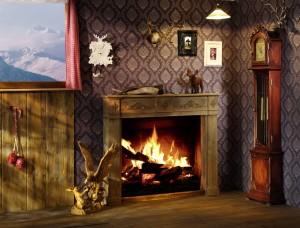 romantic fire place, interiors