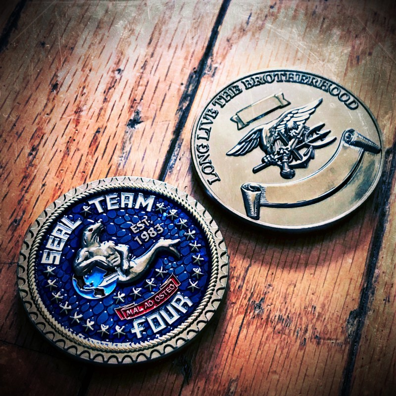 SEAL Team 4 challenge coin