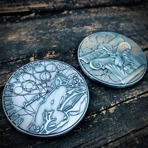 Antique Silver Custom Coin