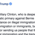 Trump Slams Hillary For Lying About His Statement On Illegal Immigration