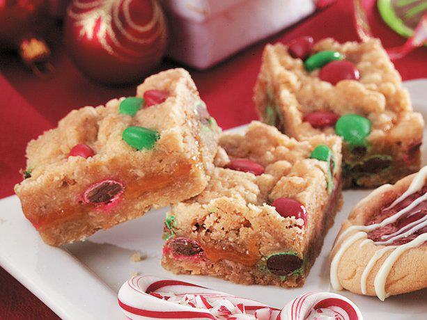 Christmas Caramel Candy Bars