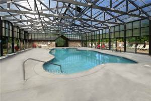 Indoor pool at Hidden Springs Resort