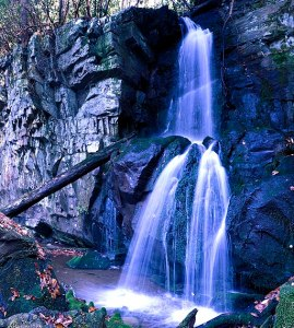 Baskins Creek Falls in the GSMNP
