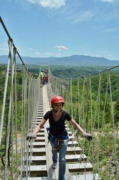 Ropes bridge at Legacy Mountain Ziplines.