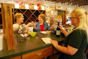 Women drinking wine on the Rocky Top Wine Trail