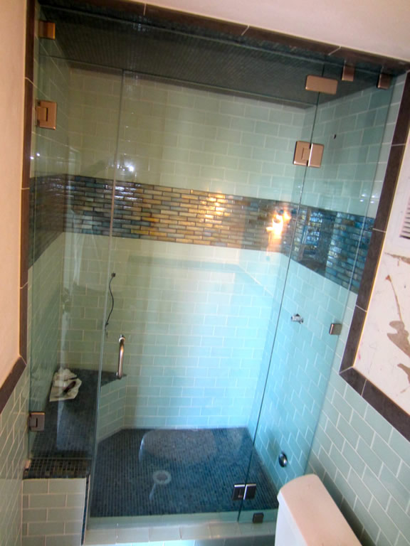 Custom Steam Shower San Diego Patriot Glass And Mirror