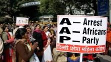 Anger against racist AAP.
