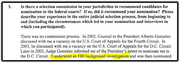 Kavanaugh and FBI