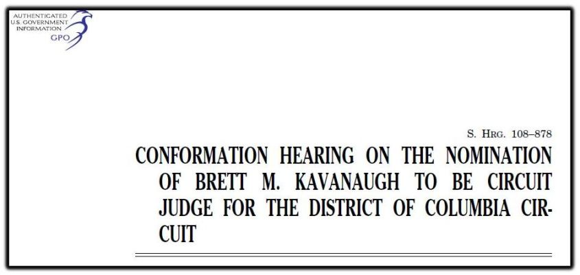 Kavanaugh confirmation hearing 1