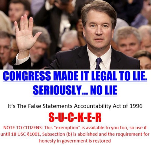 Brett Kavanaugh lies