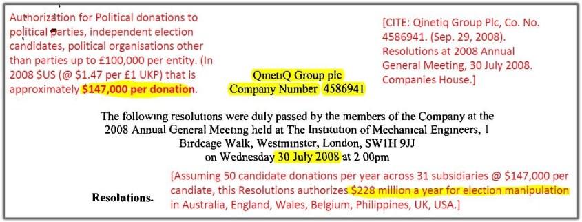 qinetiq donations