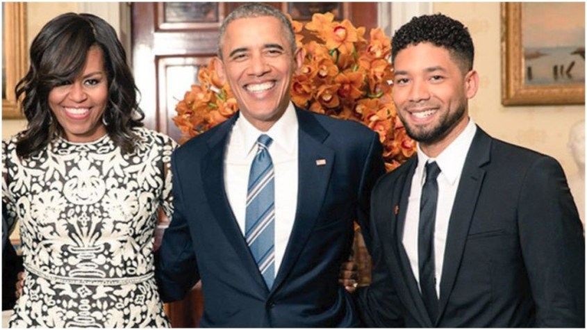 obama and jussie pix
