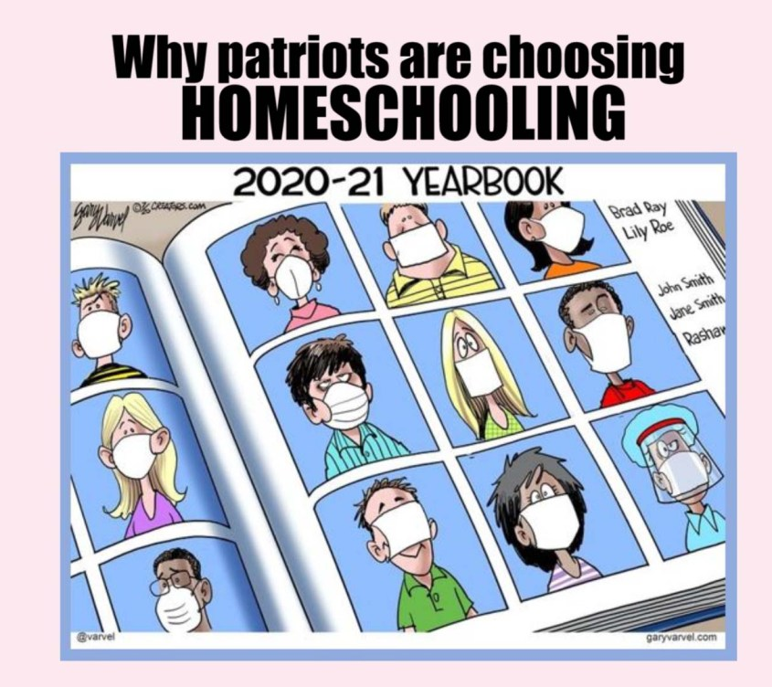 Homeschooling yearbook face mask