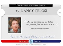 2.) Nancy Pelosi - Top 7 Stupid Politician Quotes