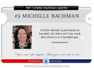 3.) Michelle Bachman - Top 7 Stupid Politician Quotes