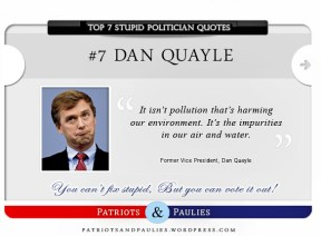 7.) Dan Qualye - Top 7 Stupid Politician Quotes