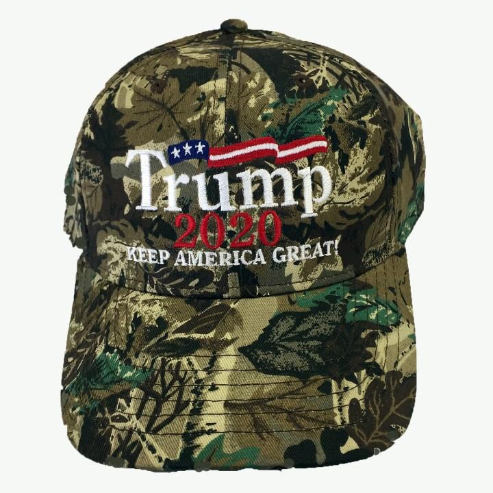 Green Camo Trump 2020 Keep America Great Cap