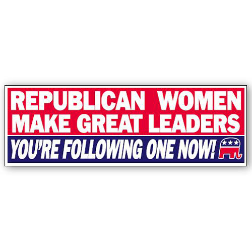 Republican Women Make Good Leaders