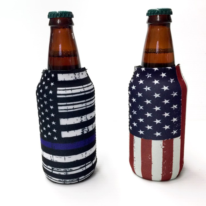 American Flag and Back the Blue Koozies