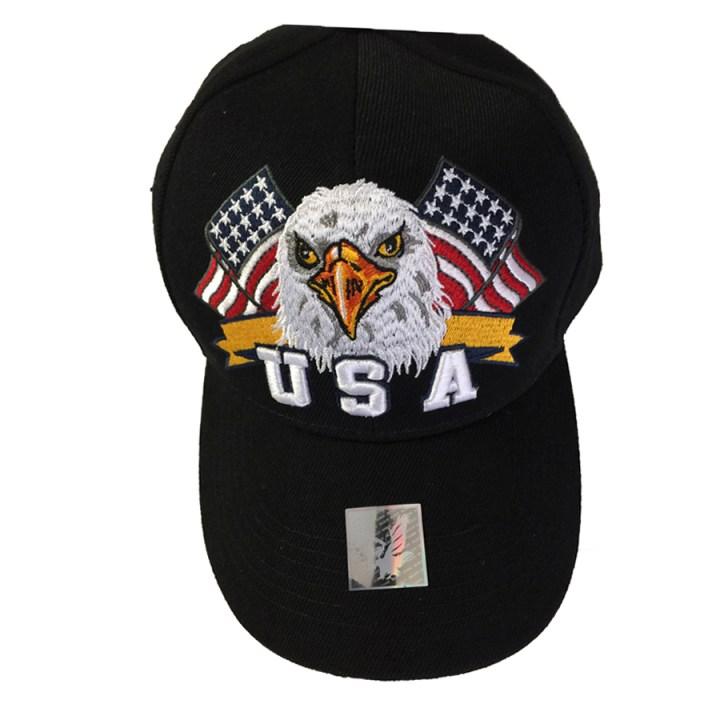 USA Eagle Cap in Black