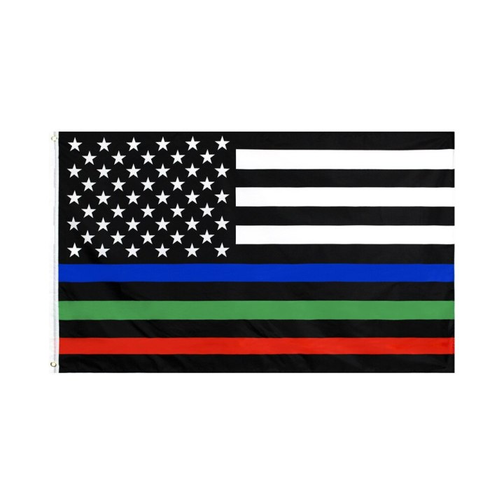 Multi Colored First Responders Flag