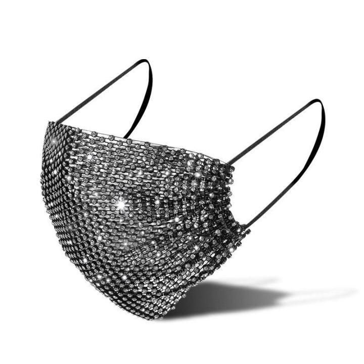 Black Beauty Rhinestone Mask
