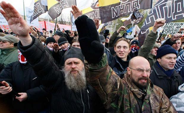 Москва: хід неонацистів. Фото: gumilev-center.ru