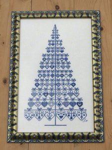 Gráfico de punto de cruz para descargar GRATIS en PDF, imprimir y bordar árbol de Navidad