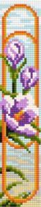Gráfico de punto de cruz para descargar GRATIS en PDF, imprimir y bordar flor del azafrán