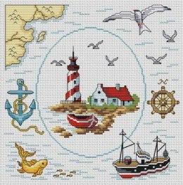 Gráfico de punto de cruz para descargar GRATIS en PDF, imprimir y bordar motivos marinos