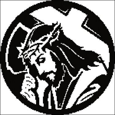 Gráfico de punto de cruz para descargar GRATIS en PDF, imprimir y bordar a Jesús portando la cruz