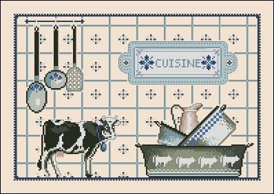 Gráfico de punto de cruz para descargar GRATIS en PDF, imprimir y bordar dibujo para cocina