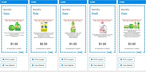 Printable Coupons on PG everyday