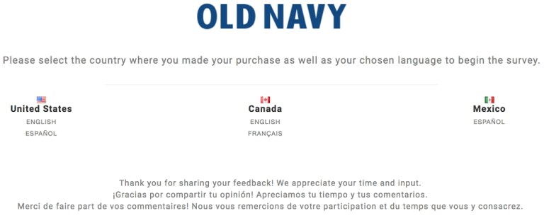 old navy homepage