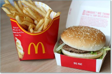 McDonalds Big Mac & Fries